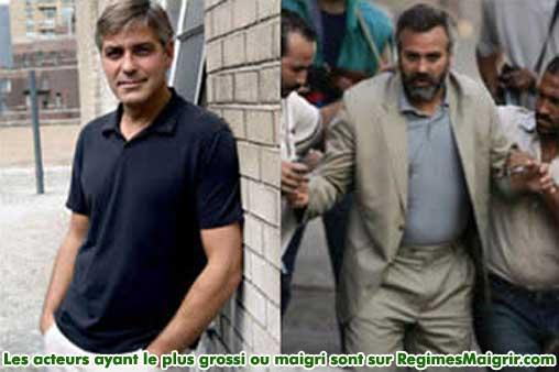 George Clooney a grossi de 14 kilogrammes pour jouer dans Syriana