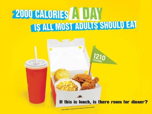 Une publicité informative sur les calories dans les métros de New-York