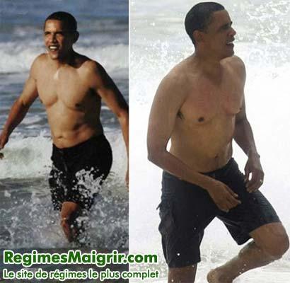 Le président des Etats-Unis Barack Obama entretient sa forme en marchant à la plage