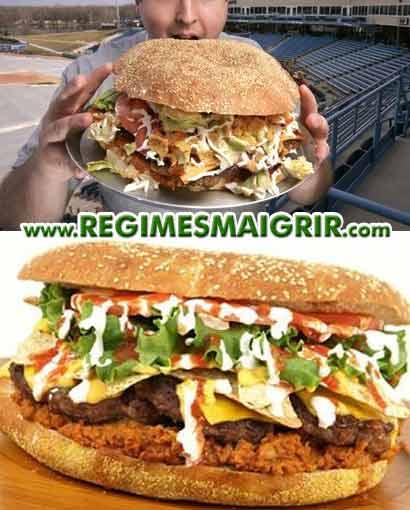Le hamburger le plus calorique du monde est américain, il apporte 4 800 calories