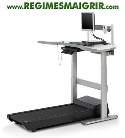 La WalkStation permet de faire du sport devant l'ordinateur