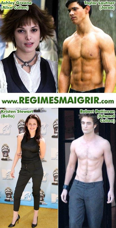 Que font les protagonistes de la série Twilight afin de conserver la forme et rester minces ?