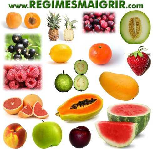 Les abricots, ananas, cantaloup et compagnie sont des fruits pauvres en calories