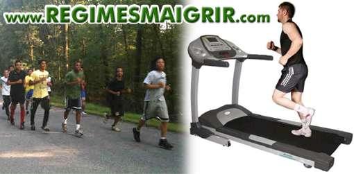 Courir sur un tapis roulant exerce la même tension que courir sur asphalte