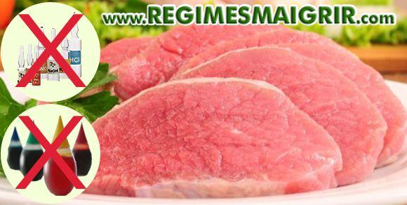 Les viandes naturelles ne contiennent ni ingrédient artificiel ni de colorant