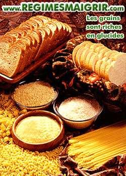 Les produits � base de grains sont de bonnes sources de glucides qui peuvent servir aux journ�es � consommation glucidique haute