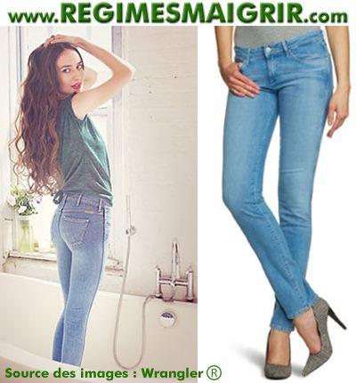 Lizzy Jagger est la mannequin choisie par Wrangler pour représenter sa nouvelle ligne de jeans anticellulitiques Denim Spa