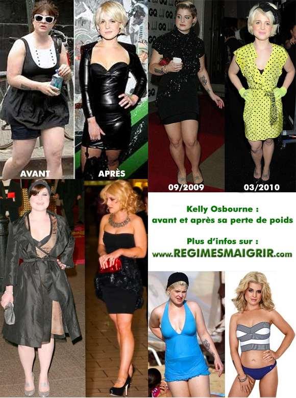 Kelly Osbourne a réussi à maigrir de 20 kilos entre 2009 et 2010, sa nouvelle silhouette élancée lui va comme un charme