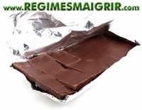 Le chocolat noir à plus de 75% contient beaucoup de cacao