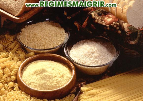 Le pain ainsi que le riz, les pâtes, les nouilles sont des exemples de glucides les plus couramment consommés dans le monde