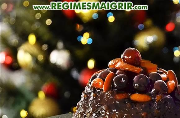 Un gâteau appétissant mais calorique est très tentant pendant Noël mais aussi à manger en modération si vous voulez éviter de grossir