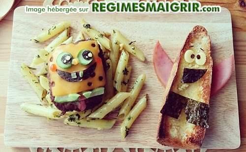 2 personnages fictifs célèbres faits en nourritures