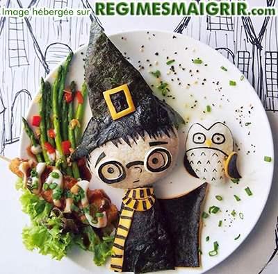 Le célèbre jeune sorcier se trouve sous forme de nourritures ici