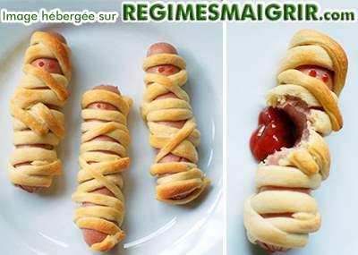 Hot Dog en forme de momies