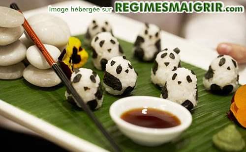 Des sushis déguisés en pandas
