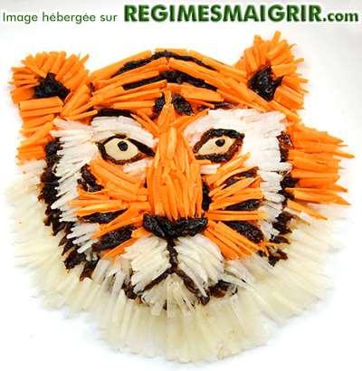 Visage de tigre mariné