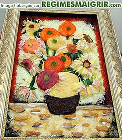 Une peinture de Van Gogh reconstituée par des sushi
