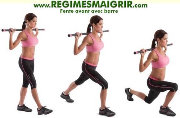 La fente avant cible les muscles fessiers