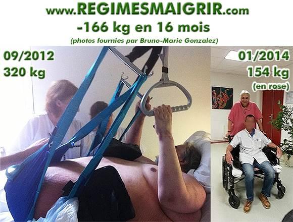 Bruno-Marie Gonzalez a réussi à perdre 166 kilogrammes en 16 mois et voici son Avant Après