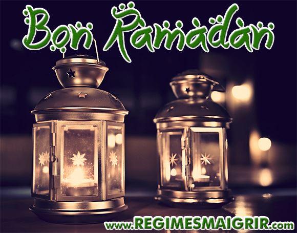 Carte de voeux pour souhaiter bon Ramadan aux croyants musulmans