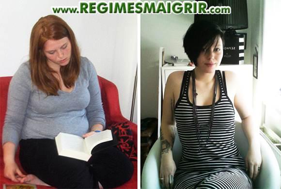 Une jeune femme qui a perdu du poids