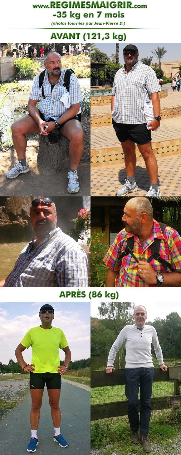 Jean-Pierre a maigri de trente-cinq kg en sept mois tout en ne se privant de rien et en faisant du sport régulièrement