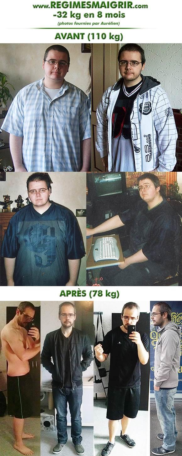 Aurélien a réussi à perdre trente-deux kilos en huit mois en changeant de mode de vie