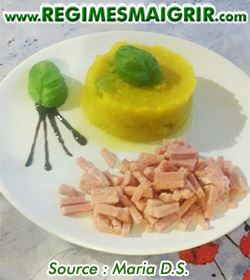 Photo du plat de pur�e de courgettes au potiron