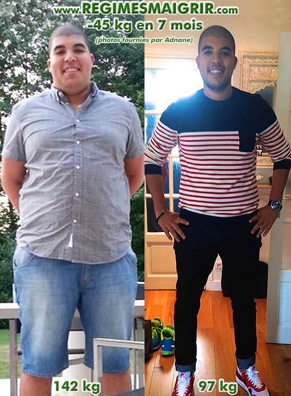 Adnane a perdu quarante-cinq kilogrammes en sept mois