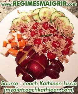 Photo d'une salade de surimis