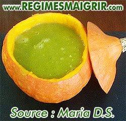 Une soupe verte à déguster préférablement pendant la saison hivernale