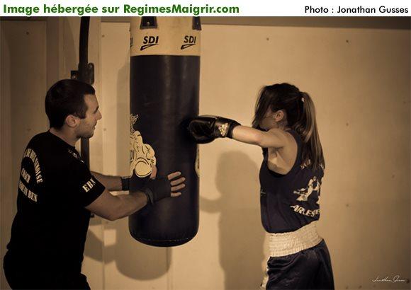 Vous entra�ner sur un punching bag est un bon d�marrage