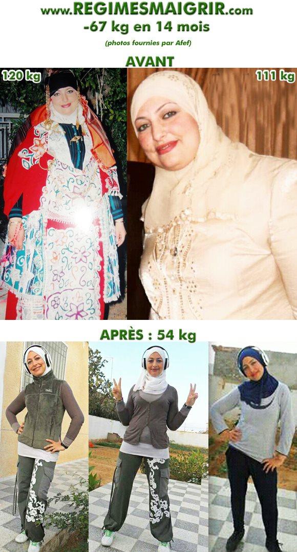 Transformation du corps d'Afef en quatorze mois
