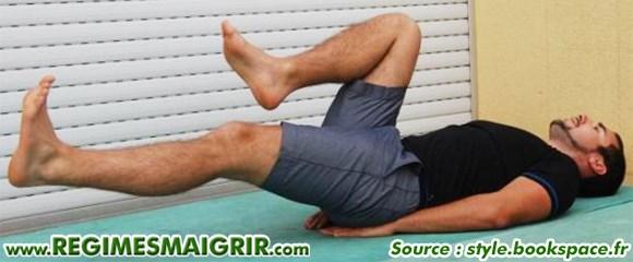 En tendant les jambes vous allez bosser davantage