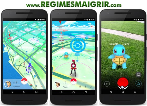 Screenshots de Pokémon Go
