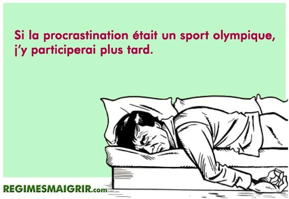 Blague sur la procrastination