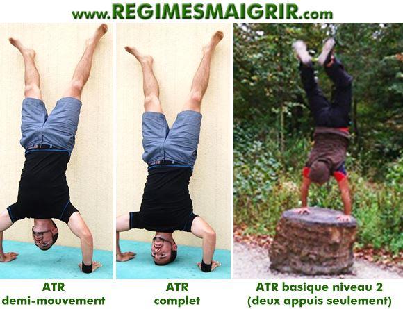 Cette image montre l'ATR effectué à divers niveaux de forme physique