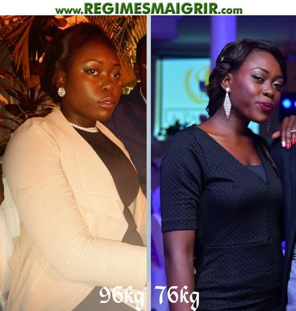 Une transformation très réussie réalisée par Tanya avec une perte de poids de vingt-et-un kg