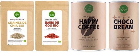 La gamme Magic Foods propose notamment les produits Choco Dream et Happy Coffee