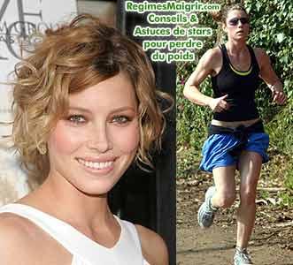 Jessica Biel mange sainement et fait du sport
