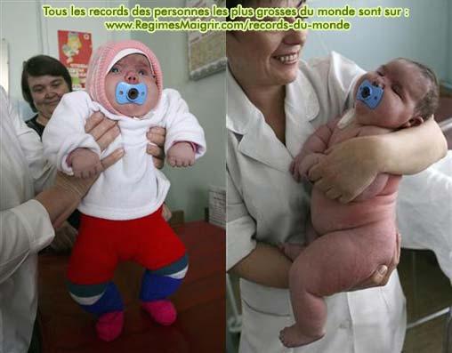 Le bébé le plus gros du monde à l'hôpital (où elle est restée un mois avant de rentrer à la maison)