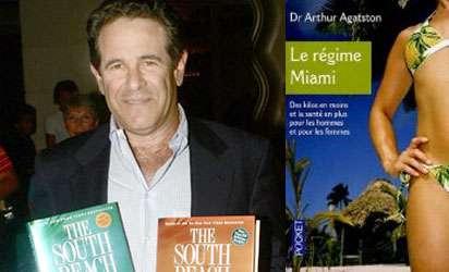 Le docteur Agatston et la couverture de son livre phare sur lequel se fonde le régime Miami