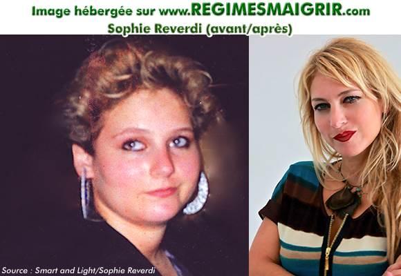 Sophie Reverdi la créatrice de cette méthode minceur avant et après sa perte de poids