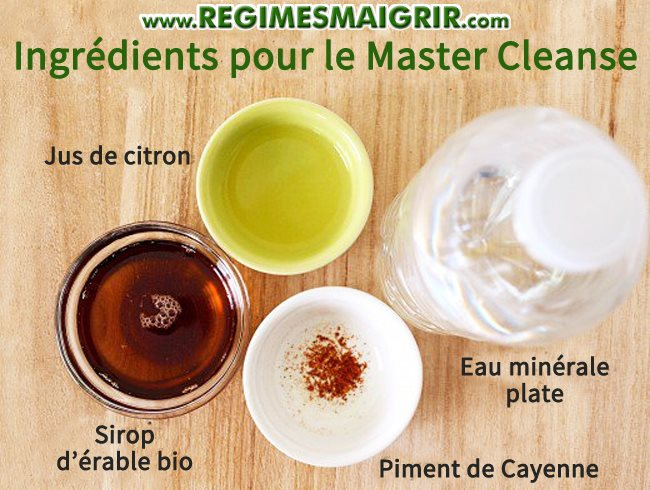 Ingrédients de la cure détox Master Cleanse
