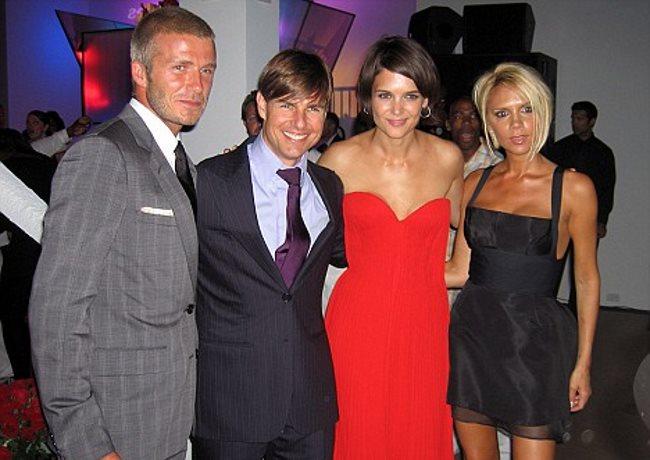 Les couples Cruise et Beckham posent ensemble devant les photographes