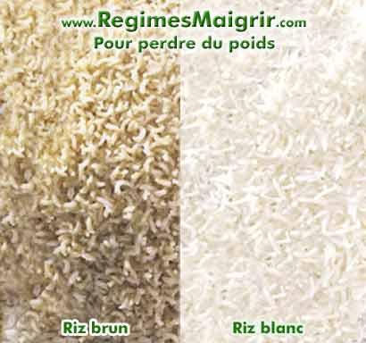 Le riz brun a plus d'avantages que le riz blanc