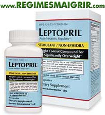 Une boîte de pilules Leptopril