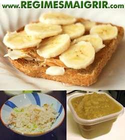 Manger des bananes, du riz, des compotes de pommes et des toast aide à soulager le problème diarrhéique