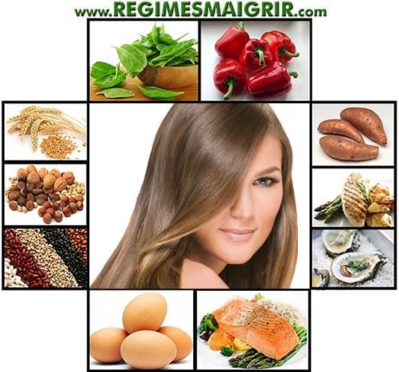 Photos d'aliments dont la consommation aide à garder de beaux cheveux