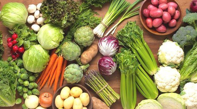 Ensemble de légumes qui favorisent une bonne santé